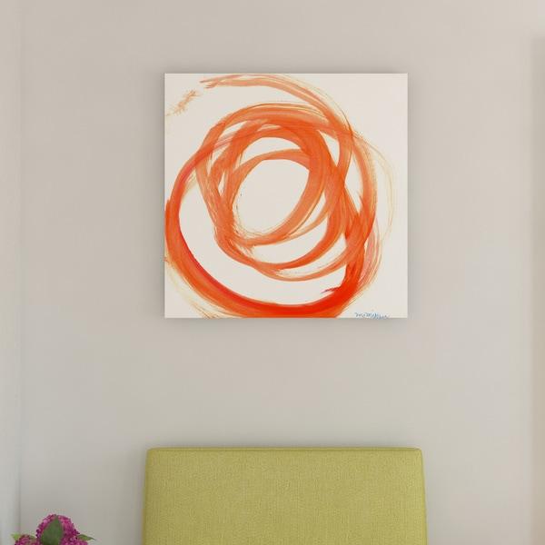 Porch & Den Orange Swirl II' Canvas by Dana McMillan. Opens flyout.