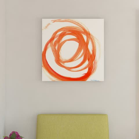 Porch & Den Orange Swirl II' Canvas by Dana McMillan
