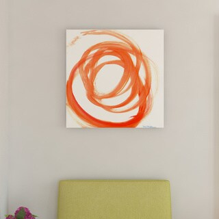 Porch & Den Orange Swirl II' Canvas by Dana McMillan