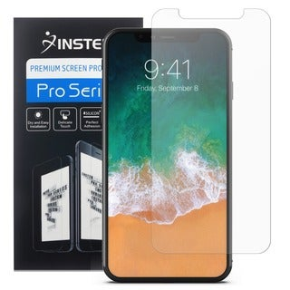 Insten Clear PET/ Privacy Anti-spy/ Mirror Full Coverage Bubble-free Anti-scratch Screen Protector Shield for Apple iPhone X