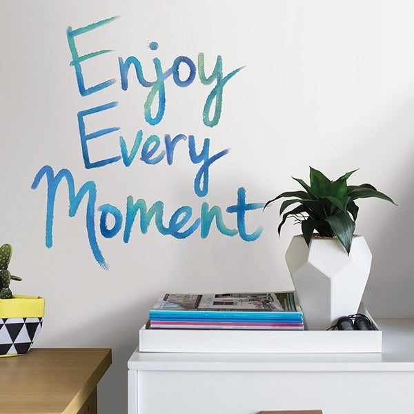 Wall Pops Enjoy Every Moment Wall Quote Wall Vinyl