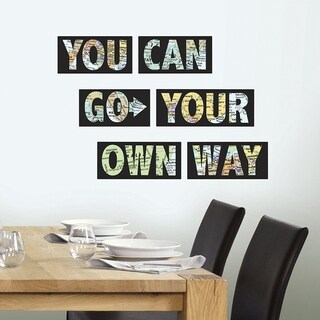 Wall Pops Go Your Own Way Quote Decal Wall Vinyl
