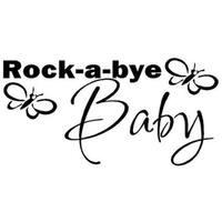 Rock A Bye Baby Nursery Vinyl Decal Home Art Wall Vinyl