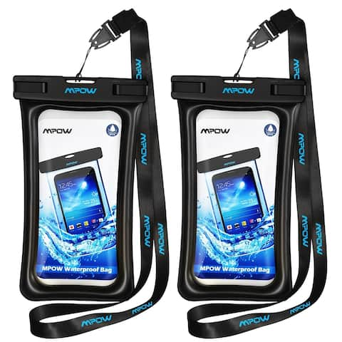 Mpow Floatable Waterproof Case for iPhone 7/ 7 Plus, Google Pixel, LG G6, Huawei P9/ P9 Plus, Galaxy S8 and More(2 Pack)