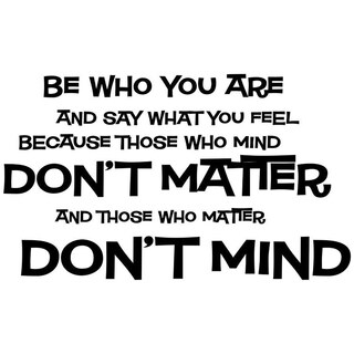 Be Who You Are Dr Seuss Vinyl Wall