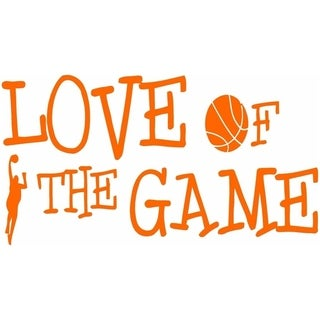 Love Of The Game Basketball Wall Vinyl Quote