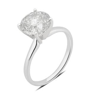 Divina 18K Gold 3 1/2ct TDW round diamond Engagement Ring(I-J,I2-I3)