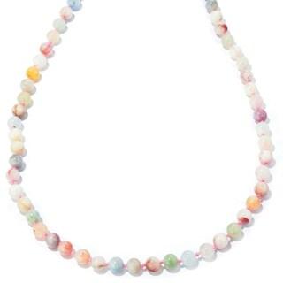 "Sterling Silver 36"" Morganite Multi Color Bead Necklace"