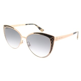 Jimmy Choo Cat-Eye JC Domi PSW Womens Gold Copper Frame Silver Gradient Mirror Lens Sunglasses