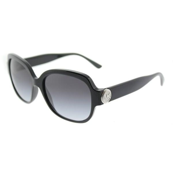 77c49b2a66 Michael Kors Square MK 2055 317711 Womens Black Frame Grey Gradient Lens  Sunglasses
