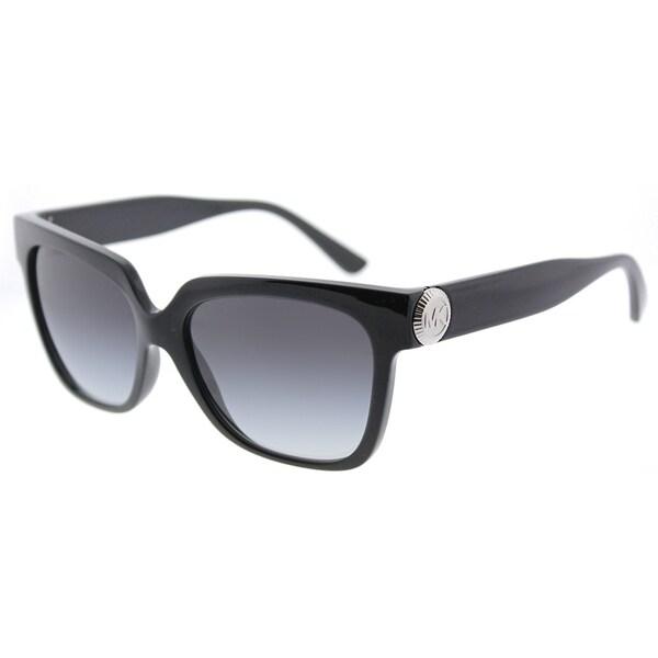 59a388879d Michael Kors Square MK 2054 317711 Womens Black Frame Grey Gradient Lens  Sunglasses