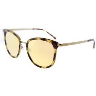 Michael Kors Cat Eye MK 1010 11997J Womens Tortoise Gold Frame Liquid Rose Gold Mirror Lens Sunglasses