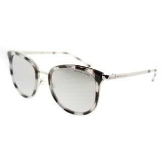 Michael Kors Cat Eye MK 1010 11986G Womens Snow Leopard Silver-Tone Frame Silver Mirror Lens Sunglasses