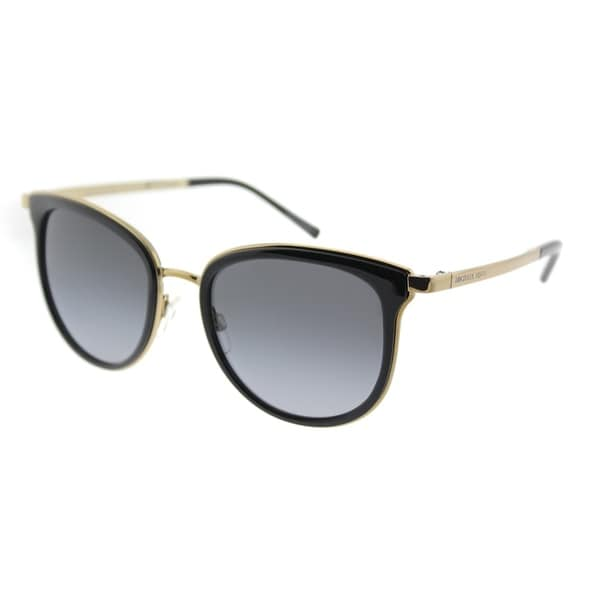 16aa179a12 Michael Kors Cat Eye MK 1010 1100T3 Womens Black Gold-Tone Frame Grey  Gradient Polarized