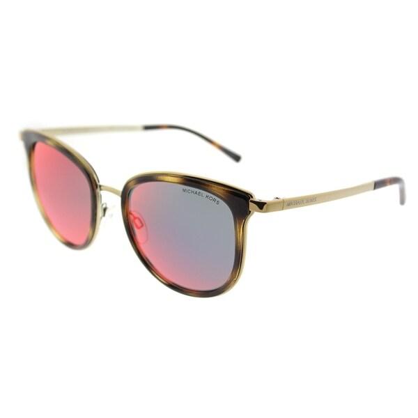 47de010461 Michael Kors Cat Eye MK 1010 11016P Womens Dark Tortoise Gold-Tone Frame  Multi Red