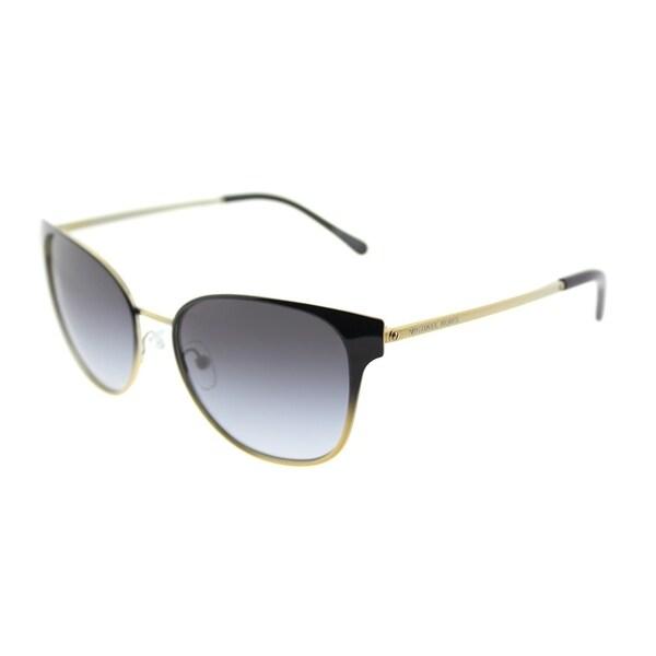 32ae429bfd Michael Kors Square MK 1022 118111 Womens Black Gradient Pale Gold-Tone Frame  Grey Gradient