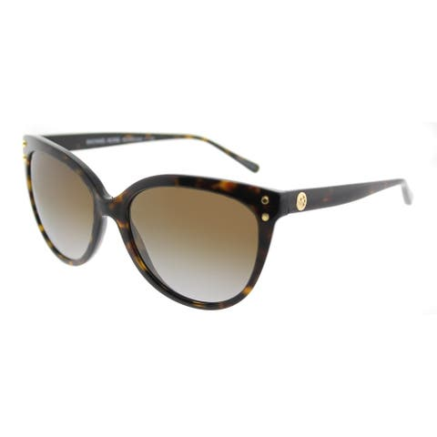f8deb708fa4b0 Michael Kors Cat-Eye MK 2045 3006T5 Womens Dark Tortoise Frame Brown  Gradient Polarized Lens