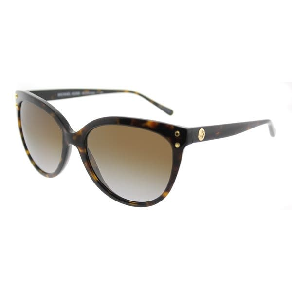 8030b1311209 Michael Kors Cat-Eye MK 2045 3006T5 Womens Dark Tortoise Frame Brown  Gradient Polarized Lens Sunglasses. Image Gallery