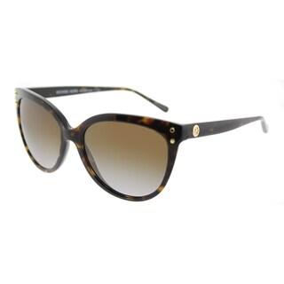 Michael Kors Cat-Eye MK 2045 3006T5 Womens Dark Tortoise Frame Brown Gradient Polarized Lens Sunglasses