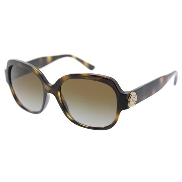 4522ddd04e9 Michael Kors Square MK 2055 3285T5 Womens Dark Tortoise Frame Brown Gradient  Polarized Lens Sunglasses