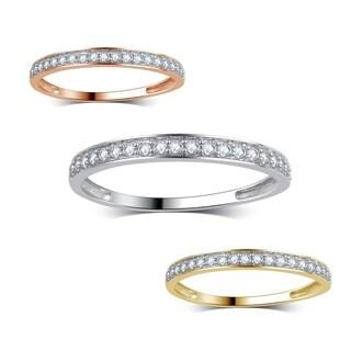Divina 14K Gold 1/5ct TDW diamond classic wedding band.(J,I3)