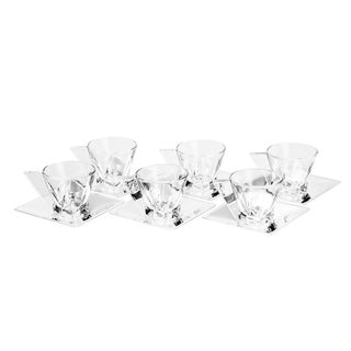 Wolff Veneza Glass Tea Cup and Saucers Set