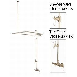 Vintage Satin Nickel Shower Set