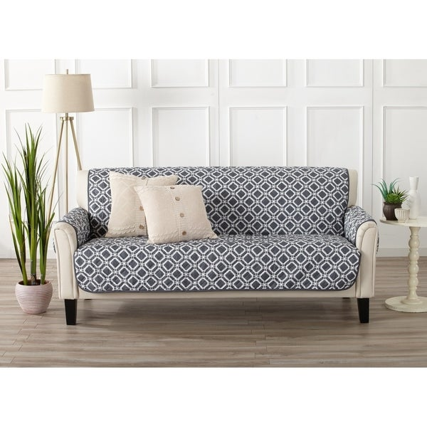 Great Bay Home Liliana Collection Deluxe Reversible Sofa Protector c761469e6534