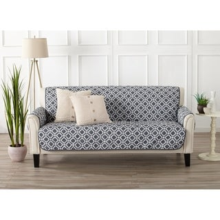 Home Fashion Designs Liliana Collection Deluxe Reversible Sofa Protector with Printed Pattern