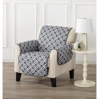 Home Fashion Designs Liliana Collection Deluxe Reversible Chair Protector with Printed Pattern