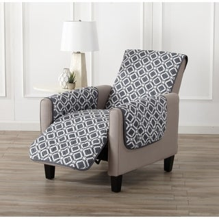 Home Fashion Designs Liliana Collection Deluxe Reversible Recliner Protector with Printed Pattern