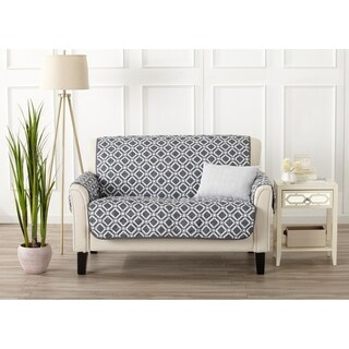 Home Fashion Designs Liliana Collection Deluxe Reversible Loveseat Protector with Printed Pattern