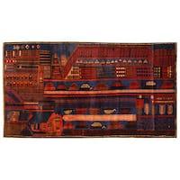 Handmade Herat Oriental Afghan Tribal Balouchi Wool Rug  - 3' x 5'3 (Afghanistan)