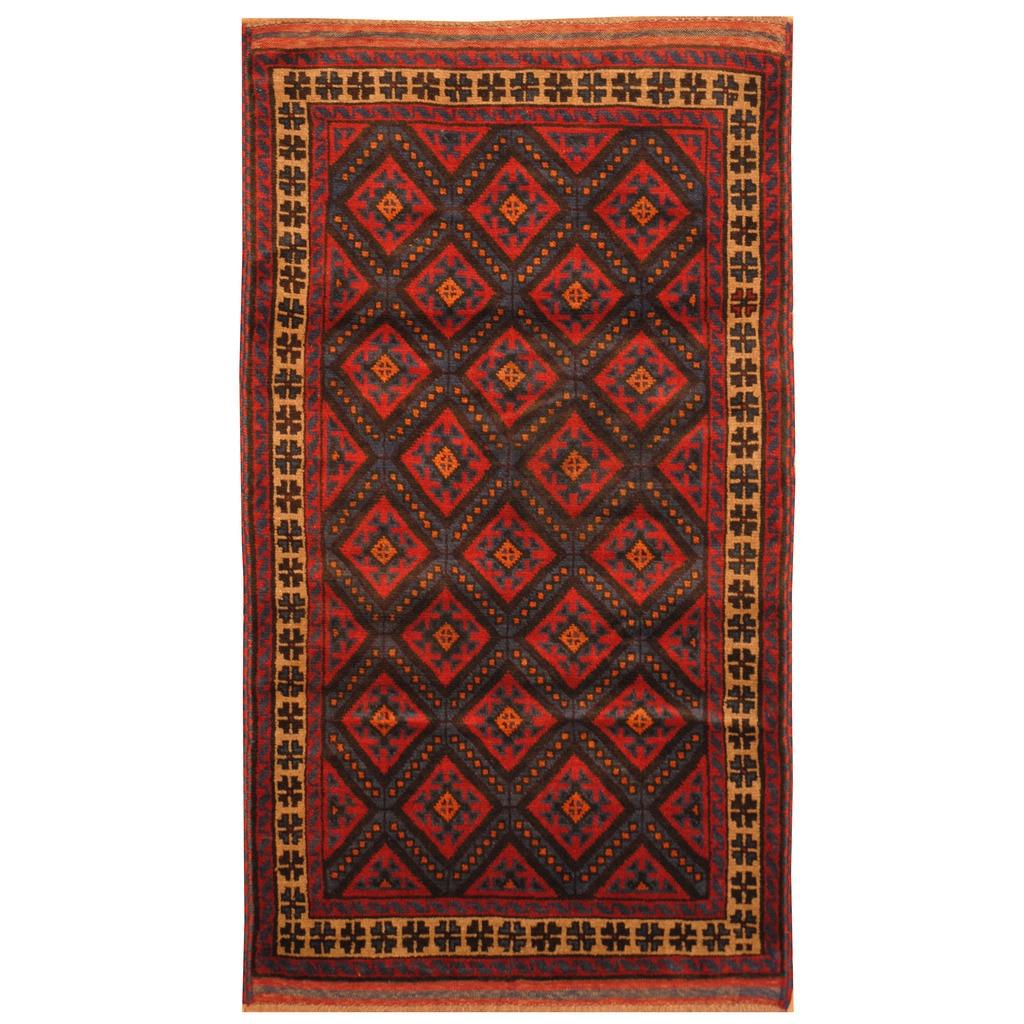 Handmade Balouchi Wool Rug Afghanistan 2 10 X 5