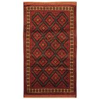 Handmade Herat Oriental Afghan Tribal Balouchi Wool Rug  - 2'10 x 5' (Afghanistan)