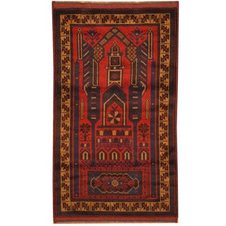 Handmade Balouchi Wool Rug (Afghanistan) - 2'9 x 5'1