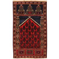 Handmade Herat Oriental Afghan Tribal Balouchi Wool Rug  - 2'10 x 4'10 (Afghanistan)
