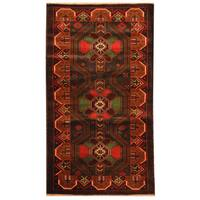 Herat Oriental Afghan Hand-knotted Tribal Balouchi Wool Rug - 2'7 x 4'9