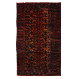 Herat Oriental Afghan Hand-knotted Tribal Balouchi Wool Rug (2'10 x 4'10) - 2'10 x 4'10
