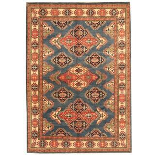 Herat Oriental Afghan Hand-knotted Tribal Kazak Wool Rug (5'7 x 8')