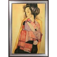 Egon Schiele 'The Daydreamer' (Gerti Schiele), 1911 Hand Painted Oil Reproduction