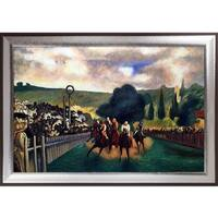 Edouard Manet 'Racing at Longchamp, 1864' Hand Painted Oil Reproduction