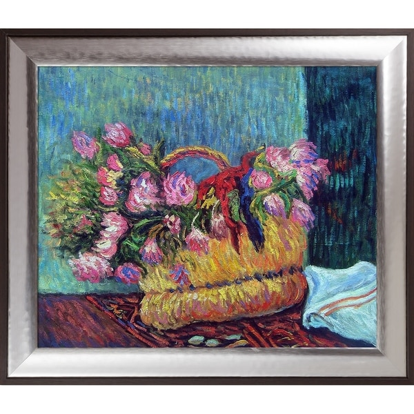 Paul Gauguin 'Basket of Flowers, 1884' Hand Painted Oil Reproduction