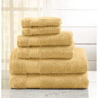 Home Fashion Designs Grace Collection 6-Piece Luxury Hotel / Spa 100% Turkish Cotton Towel Set (Option: Gold)