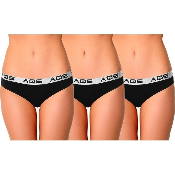 df50996d4 Shop AQS Ladies Cotton Bikini Underwear 3 Pack - Free Shipping On Orders  Over  45 - Overstock - 17767051