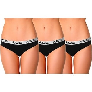 AQS Ladies Cotton Bikini Underwear 3 Pack