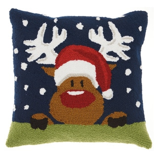 Mina Victory Home for the Holidays 18-inch Throw Pillow by Nourison