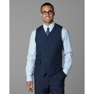 Twin Hill Mens Vest Navy Poly 5-button