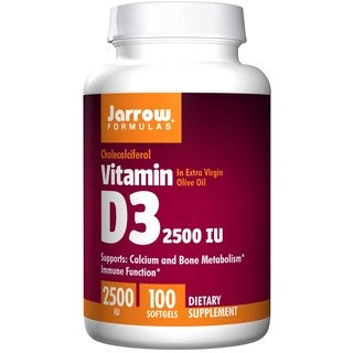 Jarrow Formulas Vitamin D3 2500IU (100 Softgels)