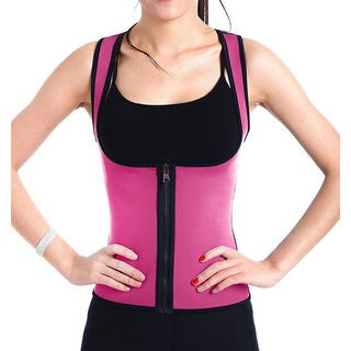 Hot Thermal Sweat Neoprene Slimming Shaping U-Vest with Zipper